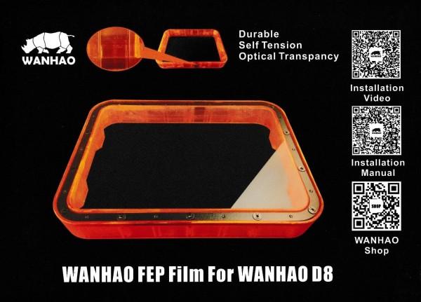 FEP Folie dünn für Wanhao Duplicator 8